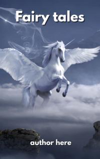 horse pegasus archway fantasy mystical fairy Capa do Kindle template