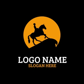 Horse racing Logo template