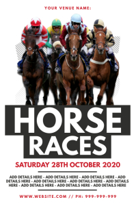 Horse Racing Poster Affiche template