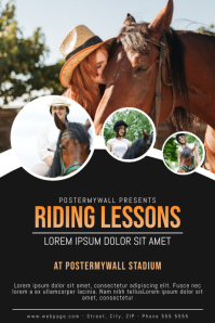 Horse ridign lessons flyer template