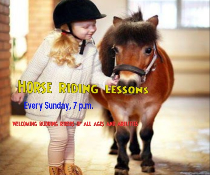 Horse Riding Lessons Rectángulo Mediano template