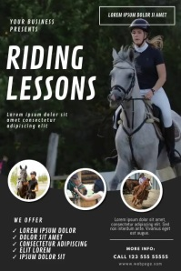 Horse Riding Lessons Video ad template
