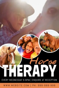 Horse Therapy Video Poster Póster template