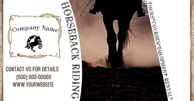 Horseback Riding Facebook begivenhed cover template