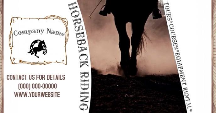 Horseback Riding Facebook-evenementomslag template