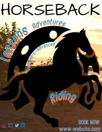 Horseback Riding 传单(美国信函) template