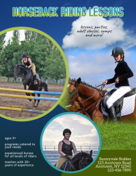 horseback riding lessons flyer template