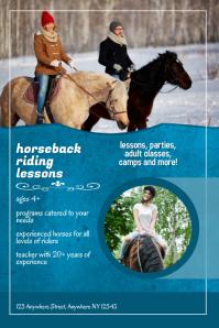 horseback riding lessons flyer template