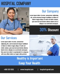 hospital company consultant flyer template