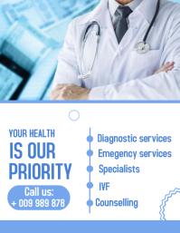 Hospital flyer template