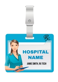 Hospital Name Badge A4 template