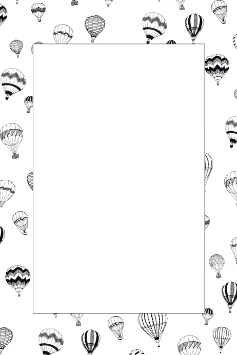Hot Air Balloon Party Prop Frame Template   PosterMyWall