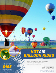 hot Air Balloon Rides Service Flyer