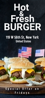 Hot and Fresh Burgers Snapchat Geofilter template
