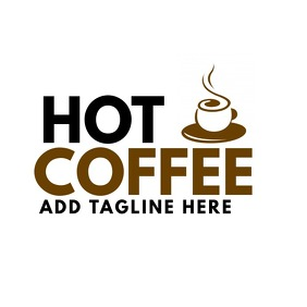 Hot coffee logo bar icon template