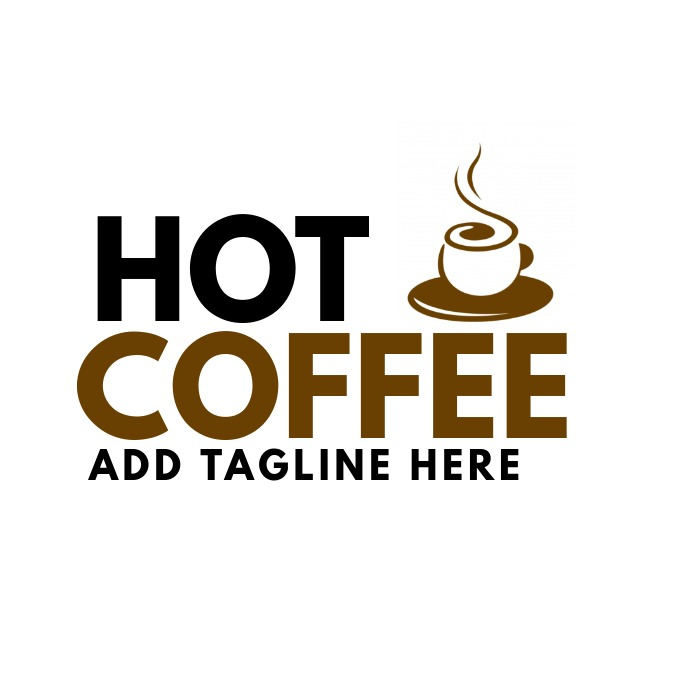 Hot coffee logo bar icon template