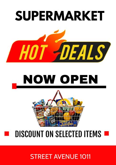 hot deals A3 template