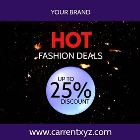 Hot Deals Explosion Advert Price Off Promo