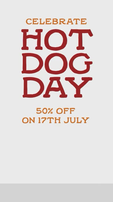 Hot Dog day История на Instagram template