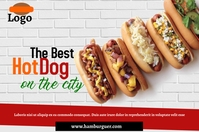 HOT DOG Poster template