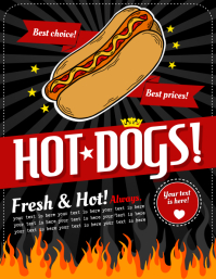 HOT DOG FLYER Volantino (US Letter) template
