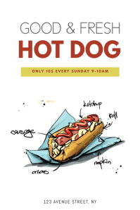 Hot dog Flyer Template
