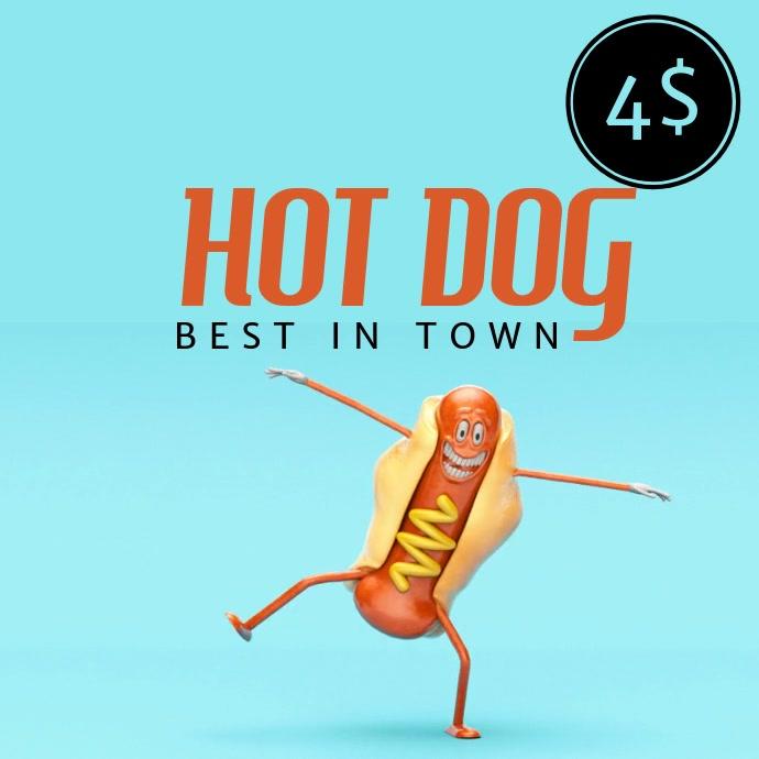 Hot dog Instagram post template