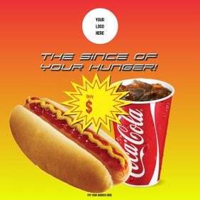 Hot dog with coke