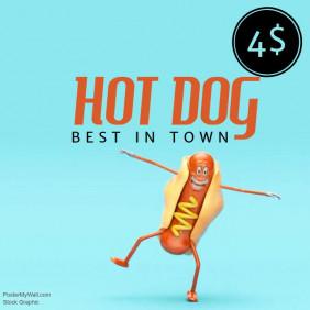 Hot dog Sale Video Promotion template for instagram