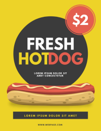 Hot dog stand Flyer Template