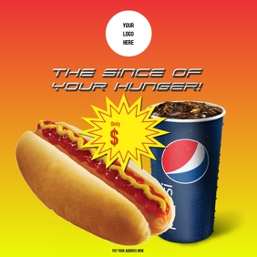 Hot dog with Pepsi