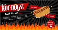 HOT DOGS BANNER