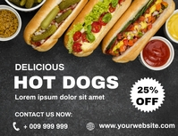 Hot DOGS Flyer (US Letter) template