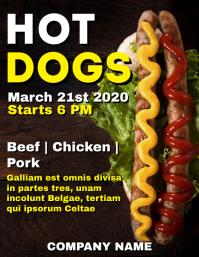 Hot dogs flyer advertisement