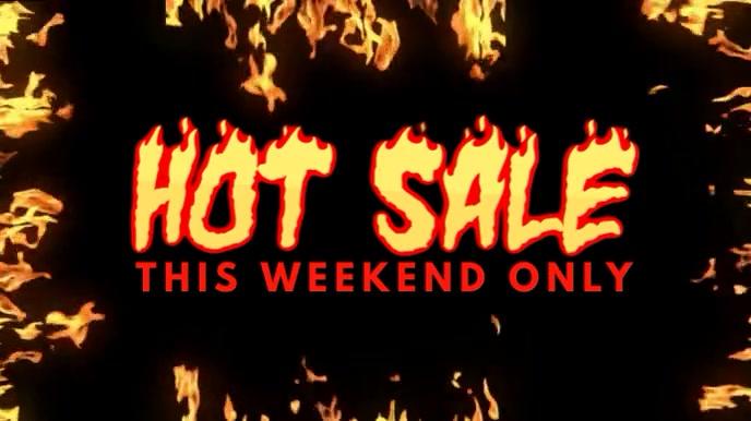 Hot Fire Sale Video Ad Template Digitale display (16:9)