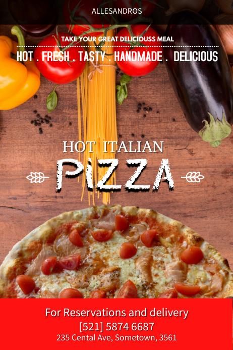 Hot Italian Flyer Template