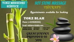 HOT MASSAGE THERAPY Wizytówka template