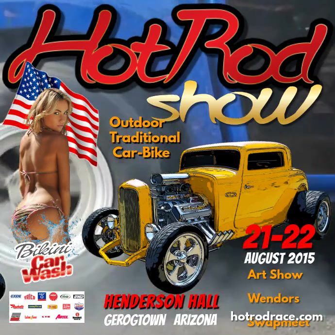 Hot Rod Show Instagram Template PosterMyWall - Car and bike show flyer template