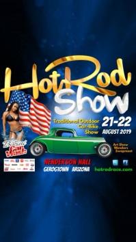 hot rod show instagram post Digitalanzeige (9:16) template