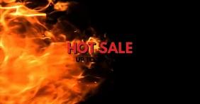 Hot Sale Fire Advert Video Price Off Discount Imagen Compartida en Facebook template