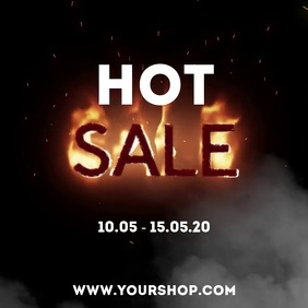 Hot sale Fire video Template Price Off shop Persegi (1:1)