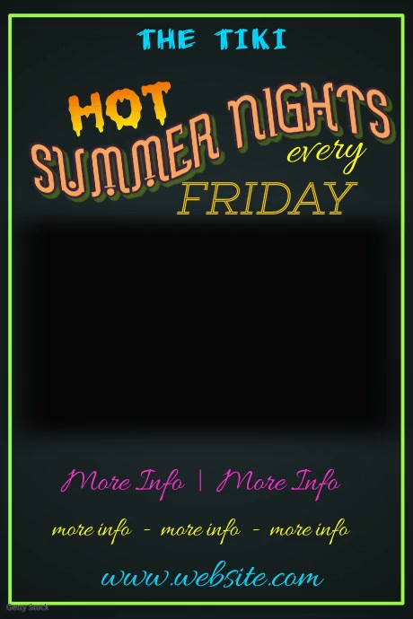 Hot Summer Nights Poster Плакат template