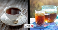 Hot vs Iced Tea Facebook Event Cover template