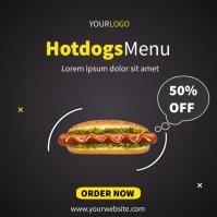 Hotdogs social media post template