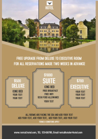 Hotel, Reservation Property, flyer, poster