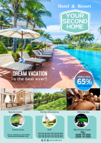 Hotel & Resort poster A5 template