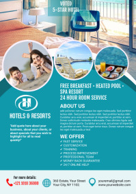 Hotel & Resorts Flyer A4 template