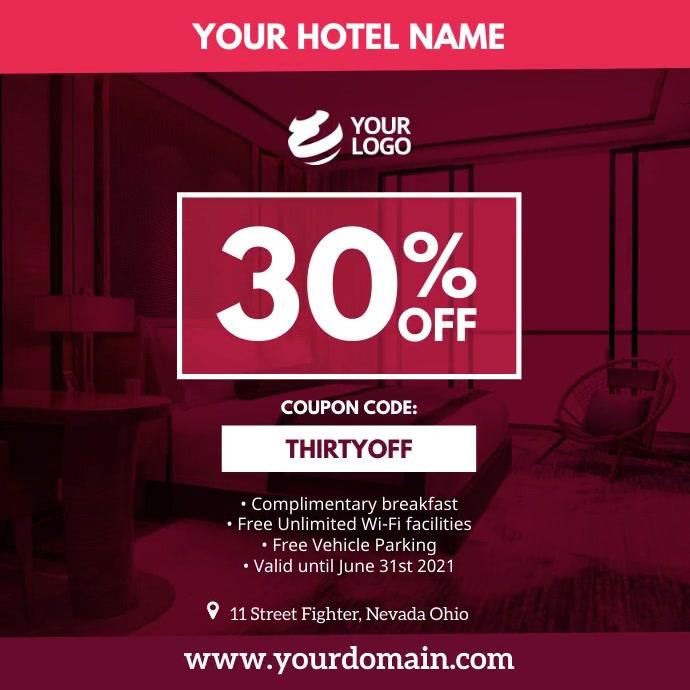 Hotel Airbnb Instagram Social Media template