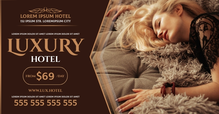 HOTEL BANNER Facebook Shared Image template