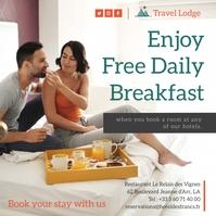 Hotel breakfast promo Instagram post template